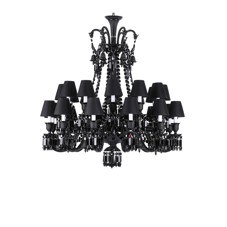 Chandelier black 24l baccarat zenith 2606898 chandelier black 24 lights short baccarat aloadofball Gallery