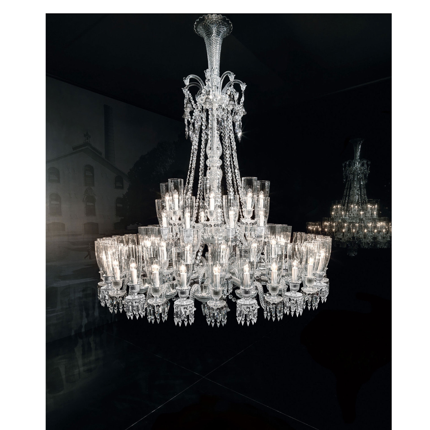 Chandelier clear 64 lights - Baccarat  sc 1 st  Table u0026 Prestige & chandelier clear 64l Baccarat zenith 2807113