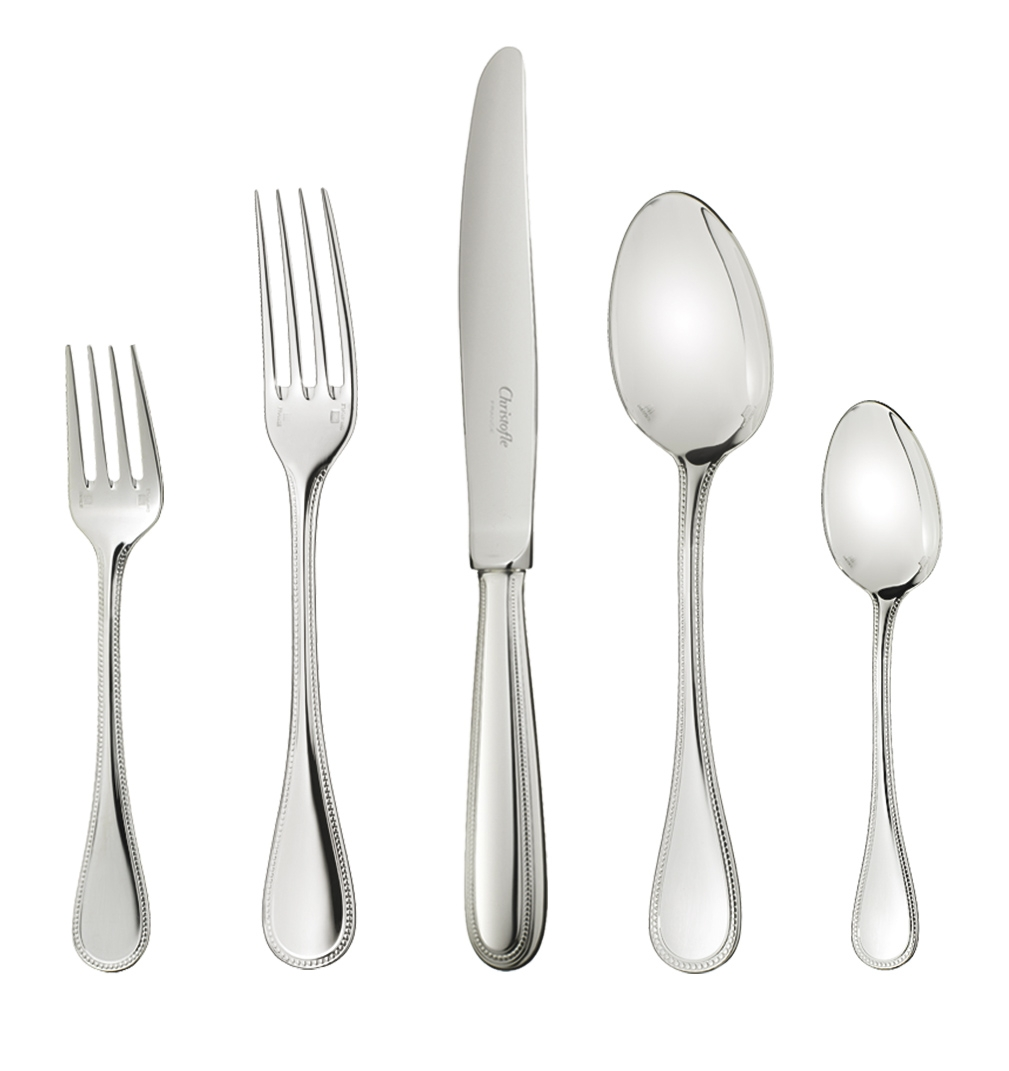 30-piece flatware set in stainless steel - Christofle  sc 1 st  Table \u0026 Prestige : christofle tableware - pezcame.com