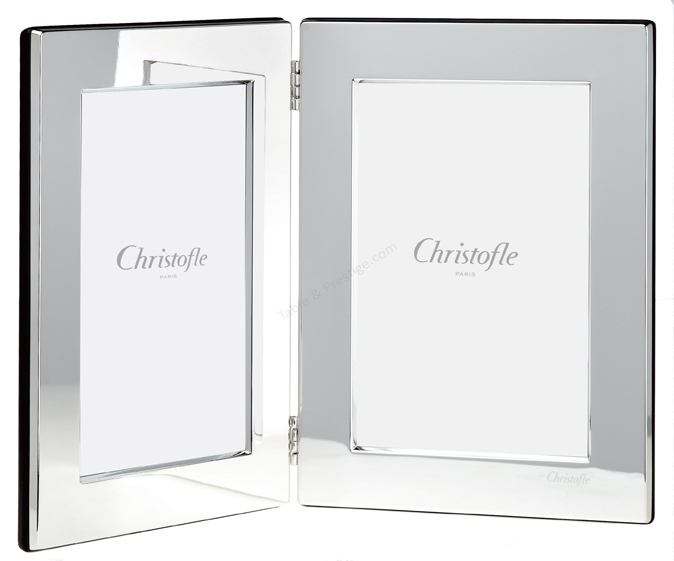 Double Photo Frame L X W 3 78 X 5 78 Fidlio Christofle