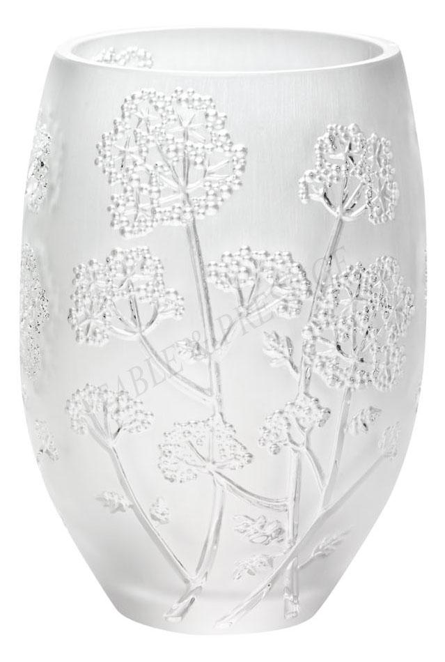 ombelles vase clear lalique - Lalique Vase