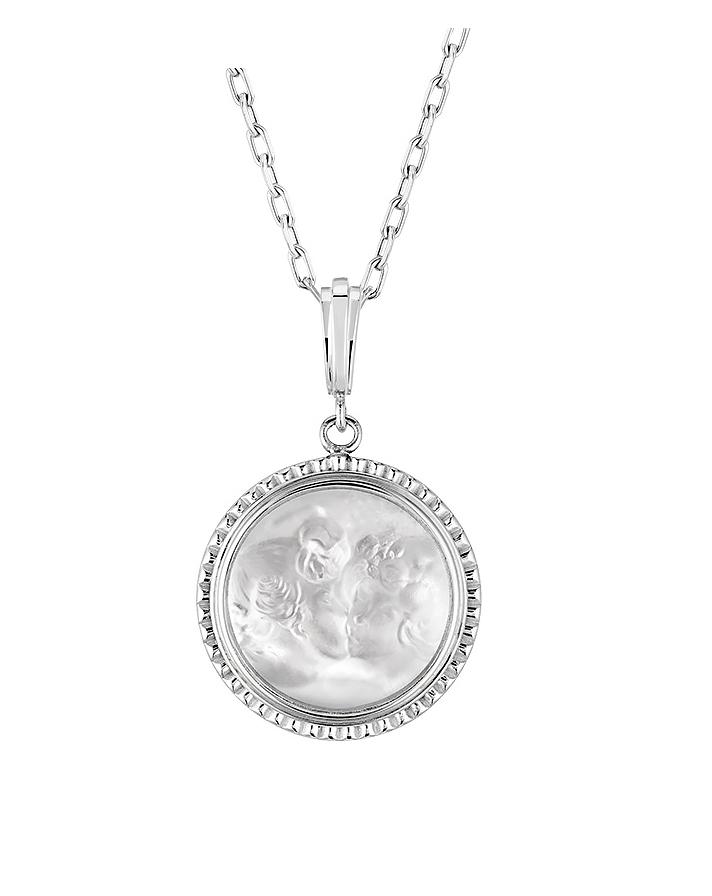 Pendant lalique le baiser 10528300 le baiser pendant in clear crystal and silver lalique aloadofball Gallery