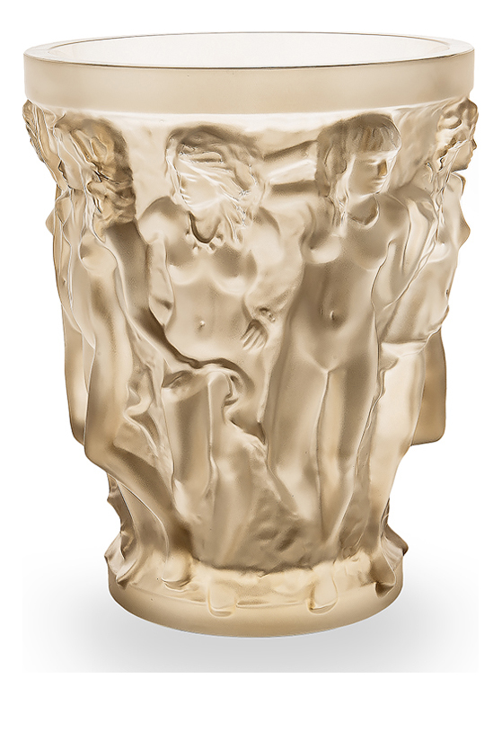 sirenes vase in gold luster crystal numbered signed and limited edition 999 pieces - Lalique Vase