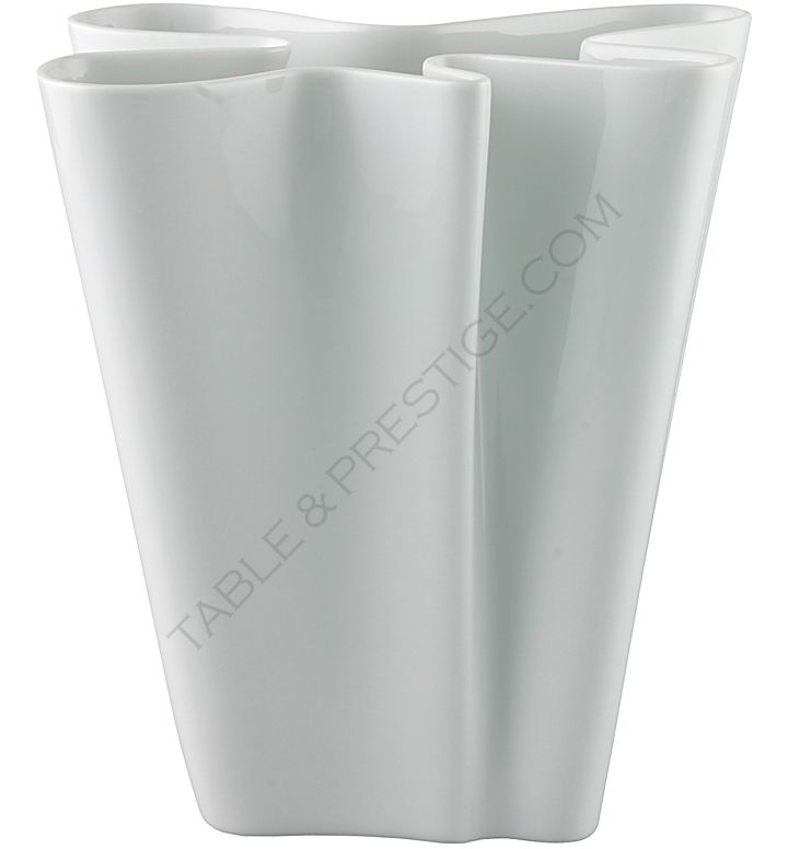 Flux White Vase 26 Cm Flux Rosenthal Shop Studio Line 14259 800001 26026