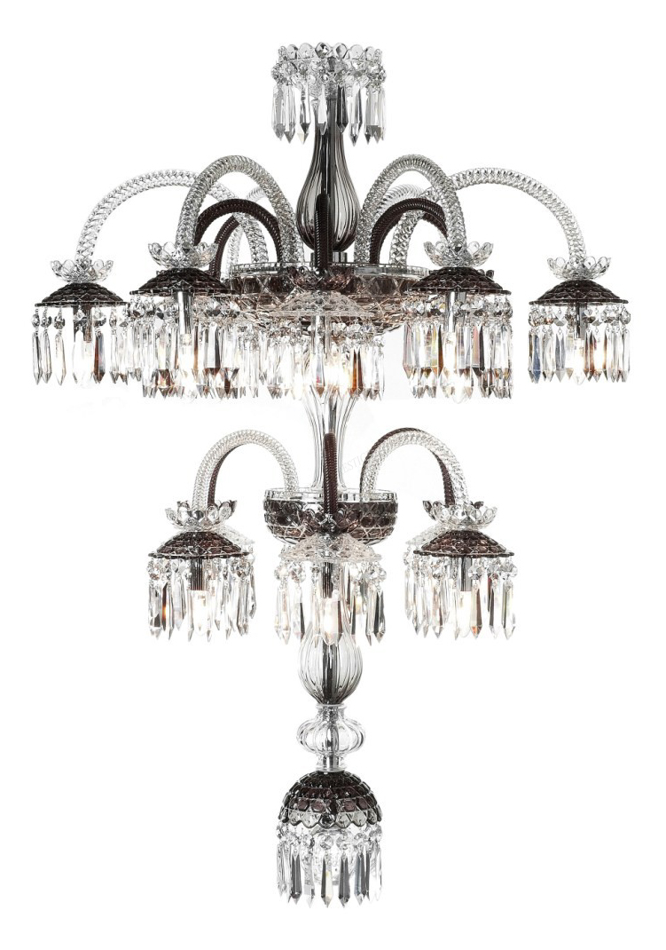 Chandelier saint louis renversant 79203216 18 light clear flannel grey chandelier saint louis aloadofball Image collections