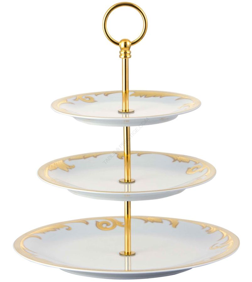 Ikarus arabesque gold etagere 3 tier arabesque gold Rosenthal shop ...