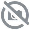 Masque de femme side table in numbered edition, clear crystal, black lacquered and ivory ash, small size - Lalique
