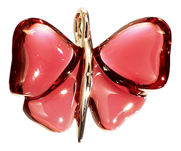 f17e866ada94f0 Papillon pendant Silver and Red crystal - Lalique Gift